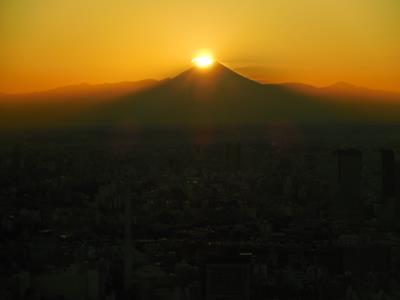 Diamond Fuji from the Roppongi Hills Mori Tower 52nd floor observatory