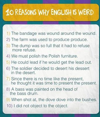 10 Reasons Why English is Weird