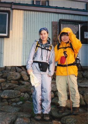 Female Japanese climbers in the Central Japan Alps