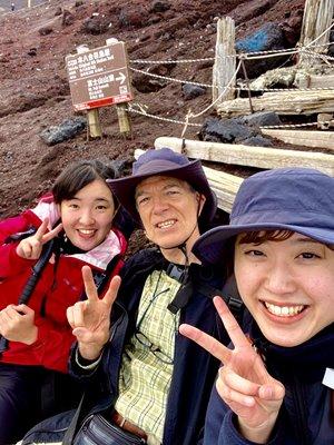 Gary with Mt. Fuji friends
