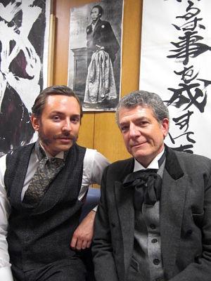 Thomas Glover with his butler