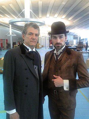 Sir Thomas Glover's butler with William J. Alt