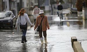 Ishinomaki high tide flooding