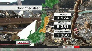 Japan quake confirmed dead