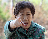 WWII-era Korean sex slave condemns efforts by the South Korean government to aid the Japanese