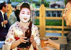 Kyoto geisha beer garden