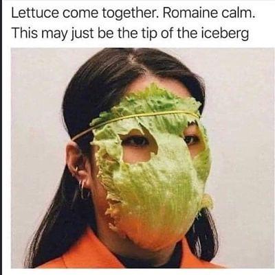 lettuce face mask