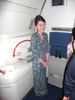 friendly Malaysia Airlines cabin crew