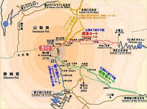 Mt. Fuji route map