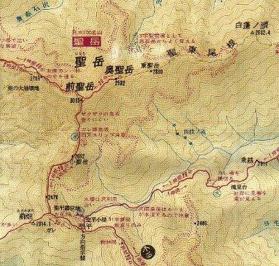 Mt. Hijiri-dake route map