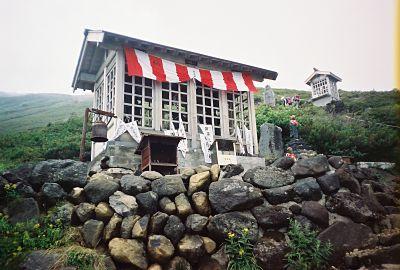 Shrine along the Mt. Ontake-san climbing trail