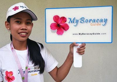 Friendly My Boracay Guide welcome girl