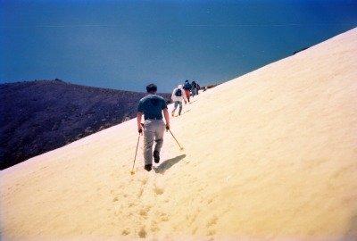 Mt. Norikura-dake snow trail