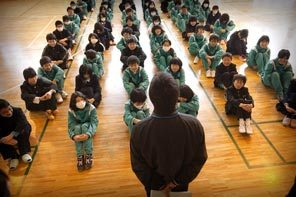 Students from Otsuchi Middle School