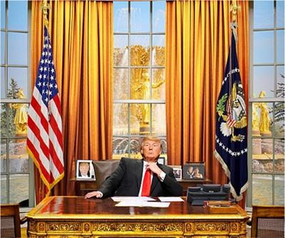President Trump in the Oval Office