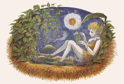 Reading under the Moon