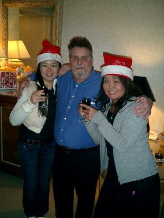 Santa Don Davis with his cute elves