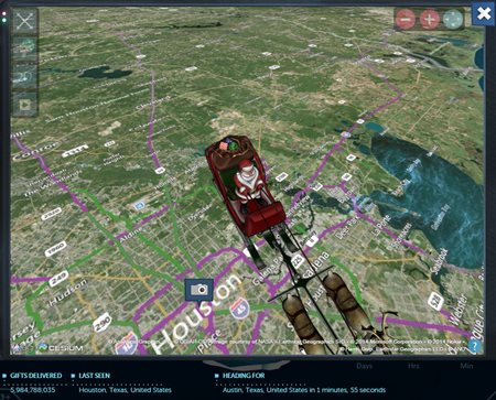 NORAD Tracks Santa in Houston - 2014