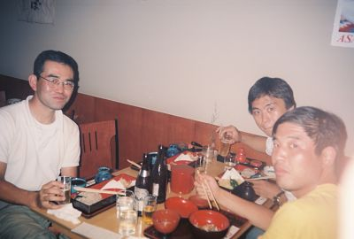 soba lunch with my hitching buddies
