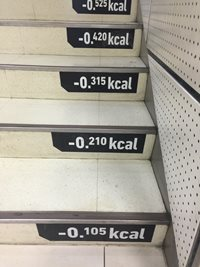 kcal consumed while stair climbing