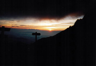 Sunset from the Kisodono-sanso mountain hut