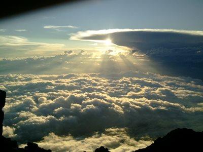 Sunset from Mt. Fuji's Kengamine peak