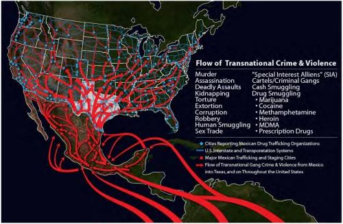 Texas border security graphic