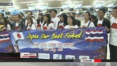 Thai tourists return to Japan