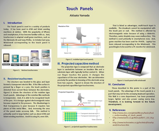 Touch panels poster