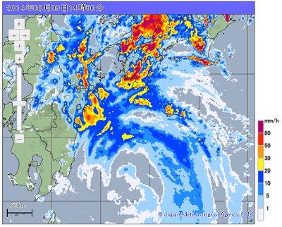Typhoon 11 Amedas weather radar