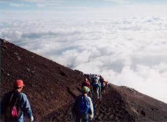 "Mt. Fuji's ""unkai (雲海)"" (sea of clouds)"