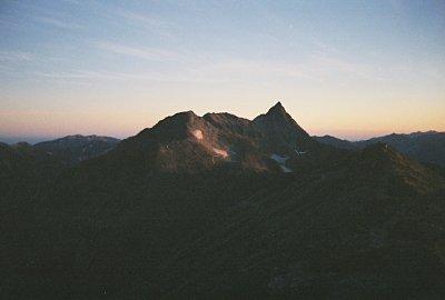 Mt. Yari-ga-take at sunrise