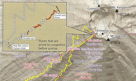 Yoshida Trail congestion spots