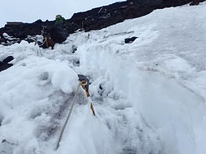 Yoshida Trail snow as of June 23, 2021