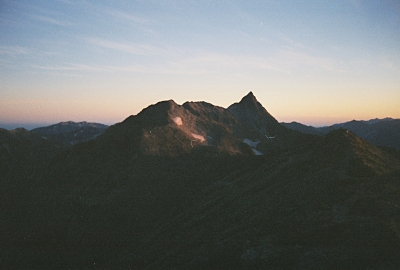 Mt. Yari-ga-take at sunrise