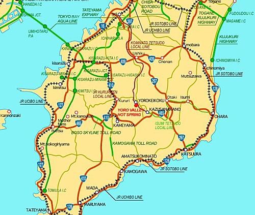 Yoro Keikoku Valley Access Map