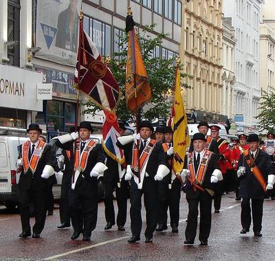 Orange Order parades - http://en.wikipedia.org/wiki/File:Memoriallodge.jpg