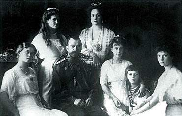 Photo of the Czar Family, Anastasia is the one hugging the boy