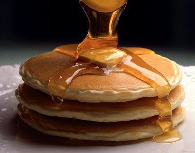 Pancakes w/ Canadian maple syrup