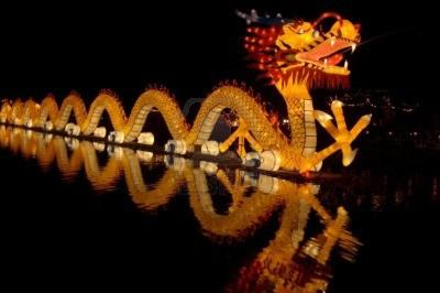 A sinosaurus's colored lantern at Chinese Spring Festival