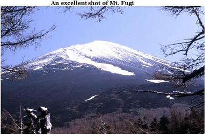 An excellent shot of Mt. Fuji in 1964