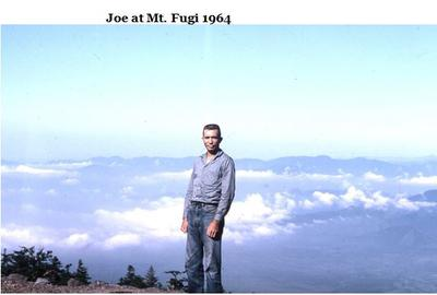 Joe Sanders at Mt. Fuji in 1964