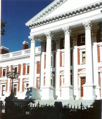 The House of Parliament in Cape Town