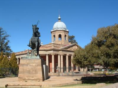 The government office building in Bloemfontein