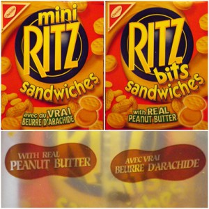 Ritz sandwiches in two languages