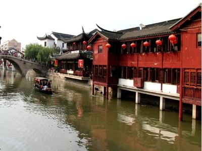Qibao Ancient Town, about 18 kilometers from downtown Shanghai
