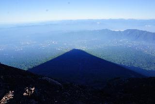 Mt. Fuji shadow - Aug. 5, 2015