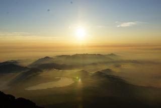 Sunrise from between the Fujinomiya & Yoshida Trails - Aug. 5, 2015