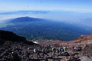 Starting my descent down the Fujinomiya Trail - Aug. 5, 2015