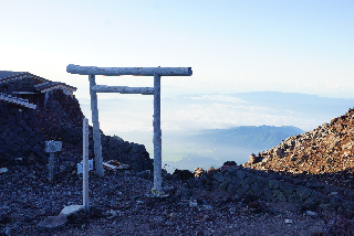 Last torii on Gotemba Trail, next to summit post office - Aug. 5, 2015